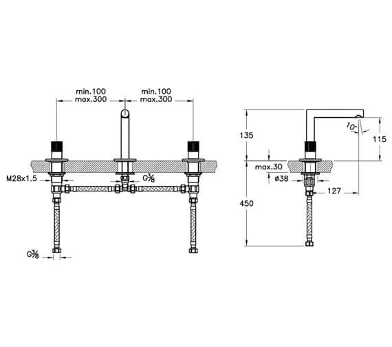 Technical drawing QS-V98113 / A42583VUK
