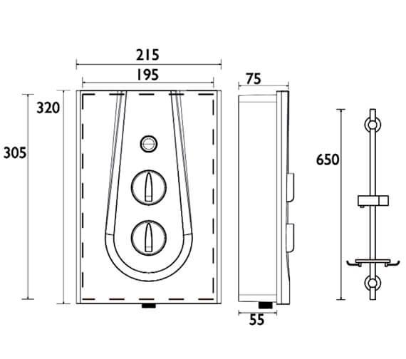 Technical drawing QS-V6992 / GLE385 W