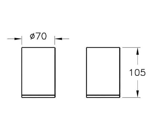 Technical drawing QS-V98119 / A44889