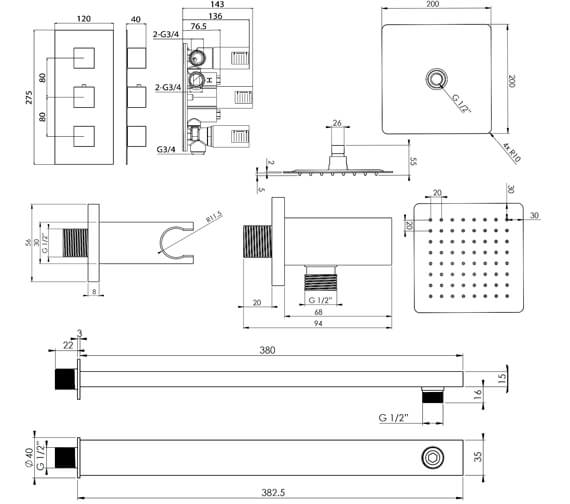 Technical drawing QS-V102332 / TOSP04