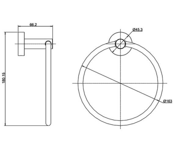 Technical drawing QS-V102515 / HOX.017CP