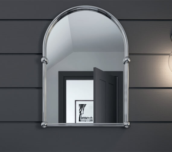 Additional image of Heritage Arched 488 x 673mm Mirror Chrome