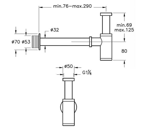 Technical drawing QS-V98117 / A45123