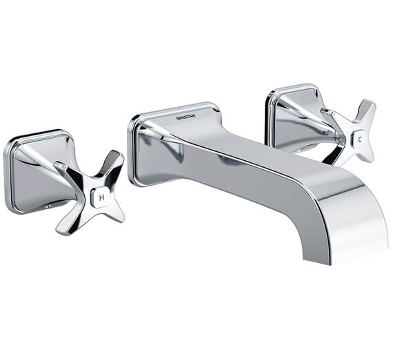 Bristan Glorious 3 Hole Wall Mounted Bath Filler Tap