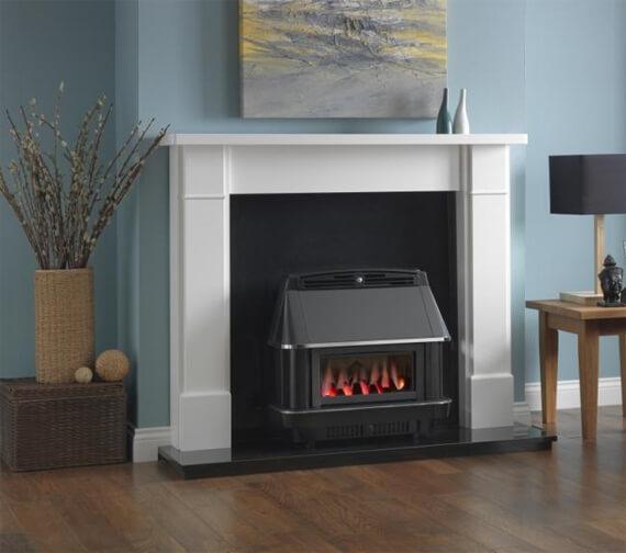 Valor Valentia Balanced Flue Black And Chrome Gas Fire