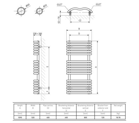 Technical drawing QS-V6555 / RA261