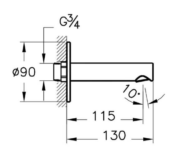 Technical drawing QS-V98122 / A42622