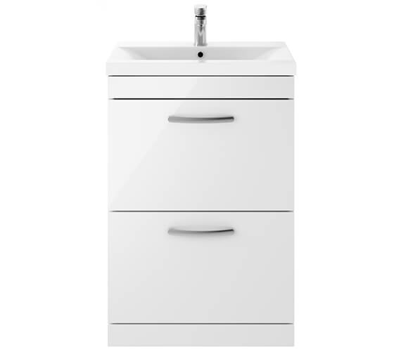 Premier Athena 2 Drawers Floor Standing Vanity Unit With Thin-Edge Basin