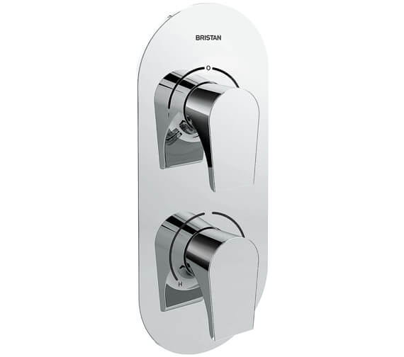 Bristan Hourglass Thermostatic Recessed Dual Control Valve With Diverter