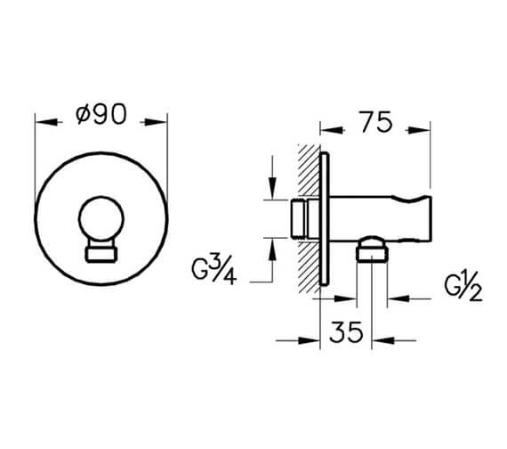 Technical drawing QS-V98127 / A42625