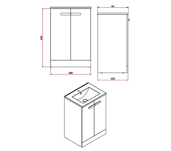 Technical drawing QS-V102602 / MY60CTUFSW