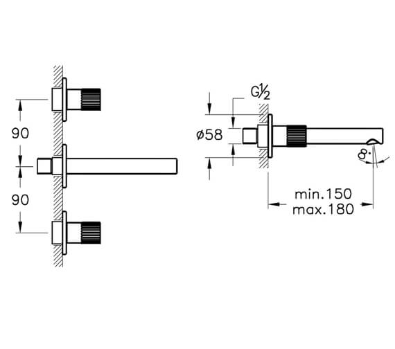 Technical drawing QS-V98129 / A42582