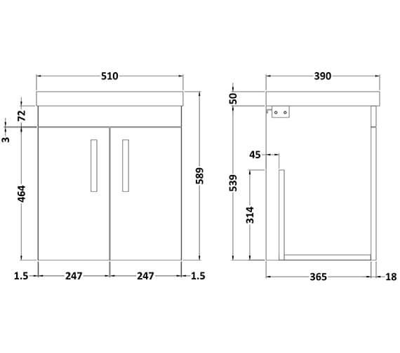 Technical drawing QS-V96356 / ATH083B