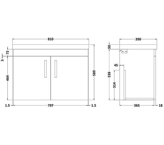 Technical drawing QS-V96356 / ATH088B