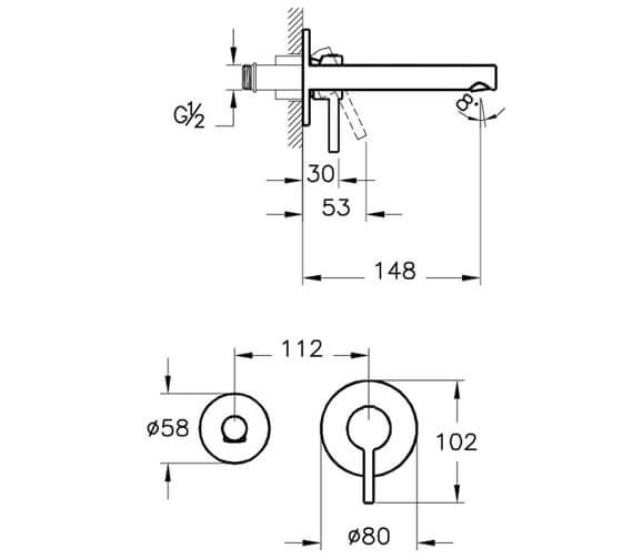 Technical drawing QS-V98128 / A42581