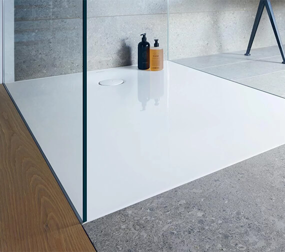 Alternate image of Duravit Tempano Flush Fitted Rectangle Shower Tray With Pre-mounted Sealing Collar