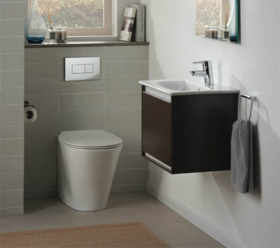 Alternate image of Ideal Standard Concept Air 500mm Wall Hung 1 Drawer Matt Dark Brown Vanity Unit