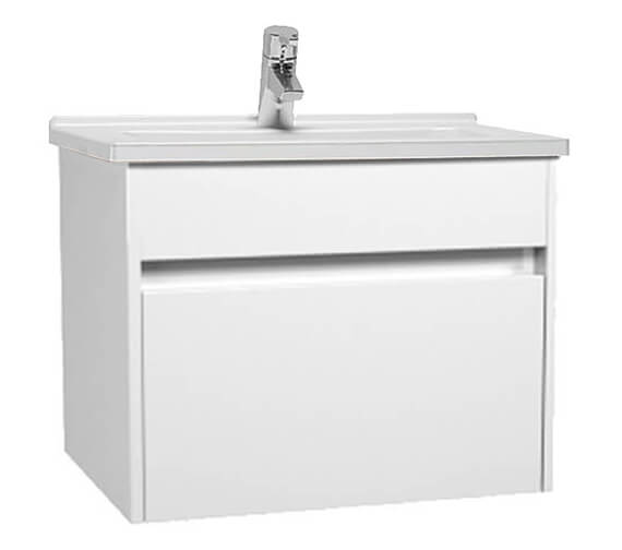 VitrA S50 Single Drawer Wall Hung Vanity Unit And Basin