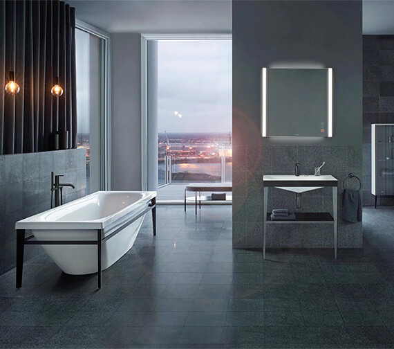 Duravit Xviu Acrylic Freestanding Bathtub With Two Backrest Slopes
