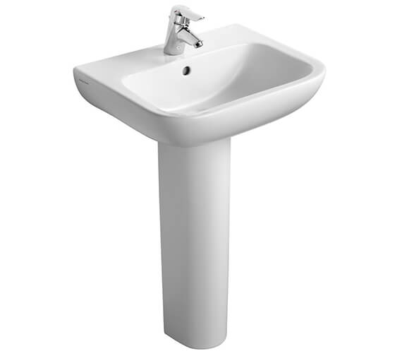 Additional image of Armitage Shanks Portman 21 Wall Hung Pedestal Washbasin - Contemporary Style