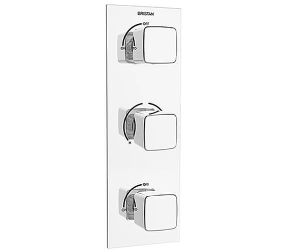 Bristan Cobalt Thermostatic Recessed Dual Control Shower Valve With Integral Twin Stopcocks