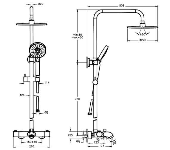 Technical drawing QS-V101317 / A49254EXP