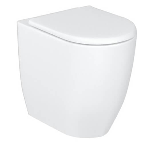 Britton Milan Rimless Back To Wall WC Pan With Soft Close Slimline Seat