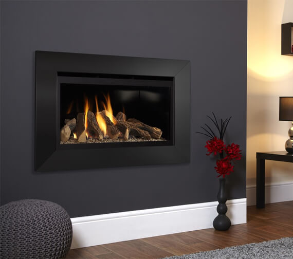 Flavel Rocco High Efficiency Hole In The Wall Gas Fire Black