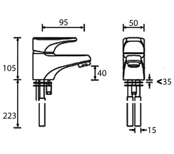 Technical drawing QS-V52116 / JU BASNW C