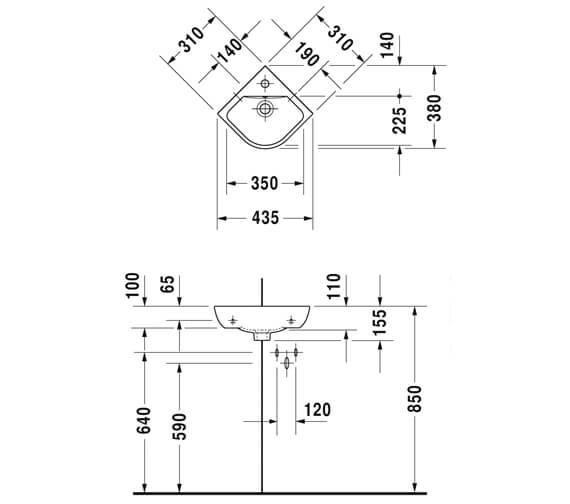 Technical drawing QS-V88884 / 0722430000