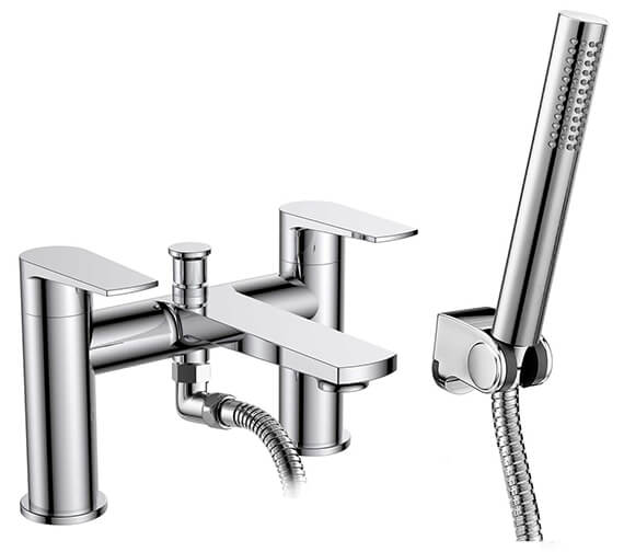 Nuie Premier Bailey Deck Mounted Bath Shower Mixer Tap With Kit