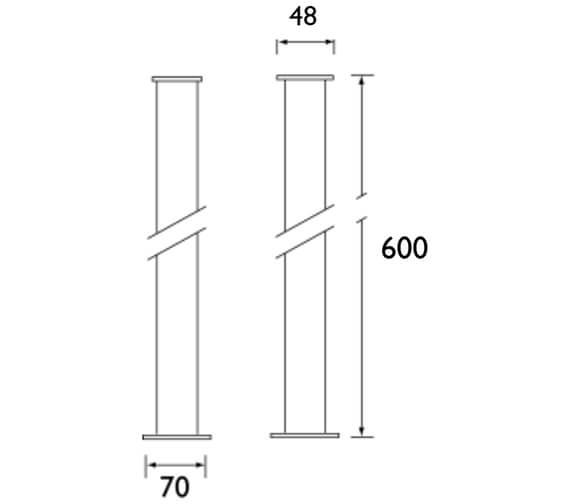 Technical drawing QS-V24414 / THC30