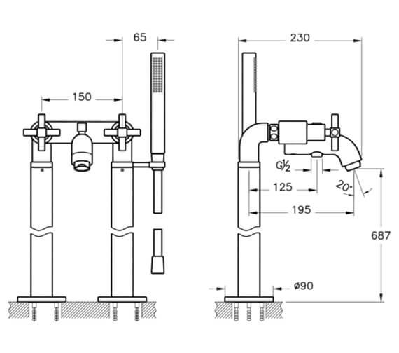 Technical drawing QS-V101321 / A42398EXP