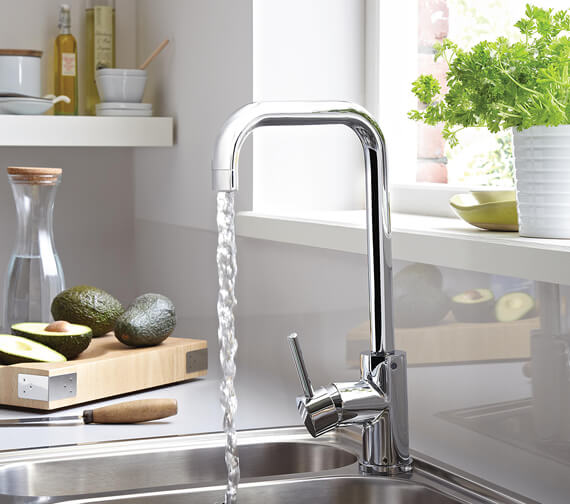 Bristan Lemon Monobloc Sink Mixer Tap With EasyFit Base