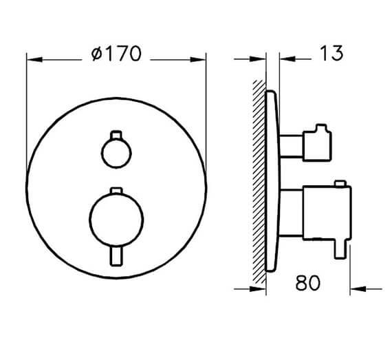 Technical drawing QS-V98132 / A42672