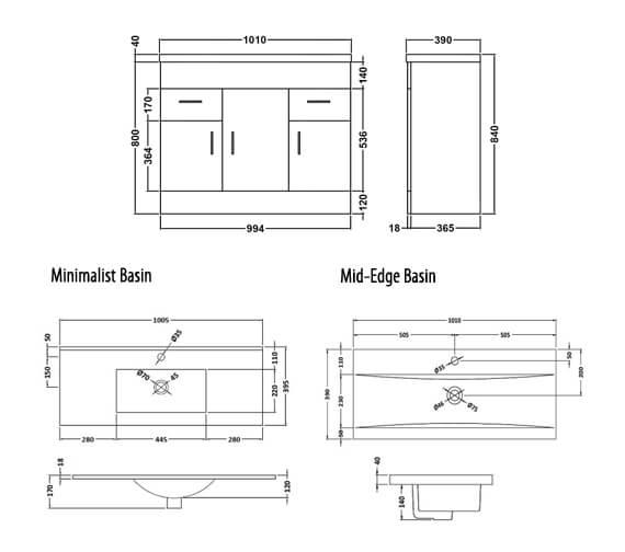 Technical drawing QS-V45072 / VTMW800
