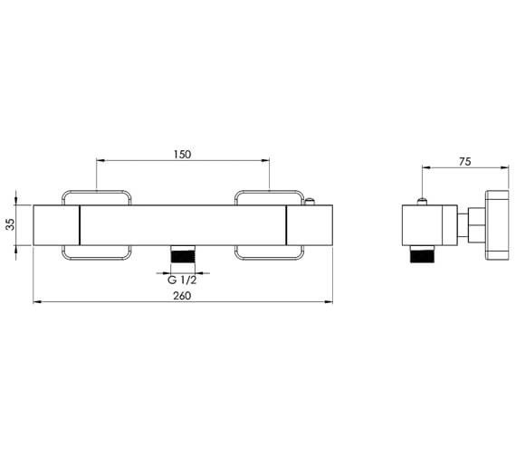 Technical drawing QS-V82586 / TO1WV01