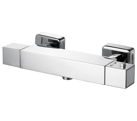 Saneux Tooga Square Exposed Thermostatic Bar Shower Valve