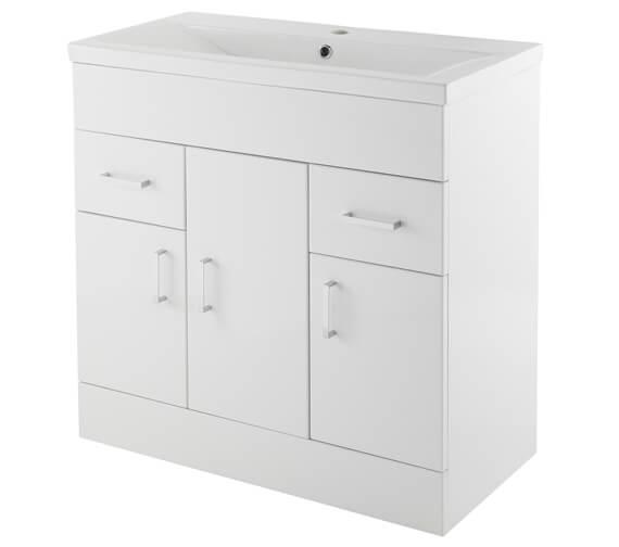 Nuie Premier Eden Floorstanding 3 Door And 2 Drawer Cabinet With Basin