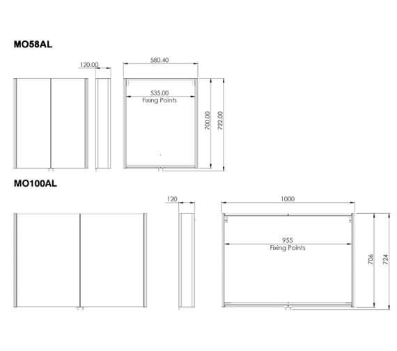 Technical drawing QS-V56365 / MO58AL