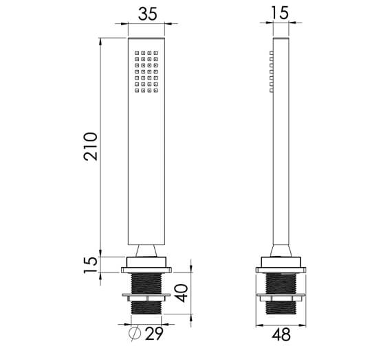 Technical drawing QS-V82589 / TO216