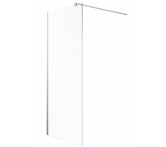 Twyford Geo Walk In Flat Shower Panel With Fixed 8mm Thick Glass