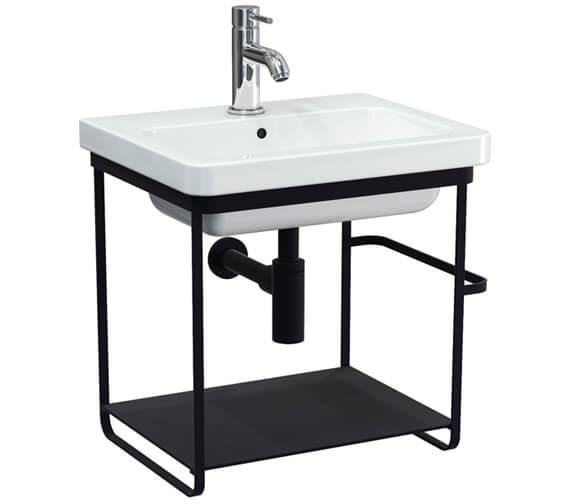 Saneux Volato Matte Black Wall Hung Washstand For Indigo Washbasin