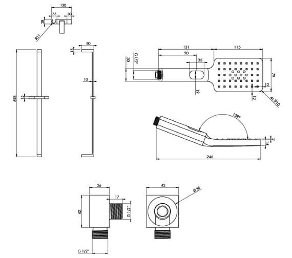 Technical drawing QS-V88880 / SKTO01