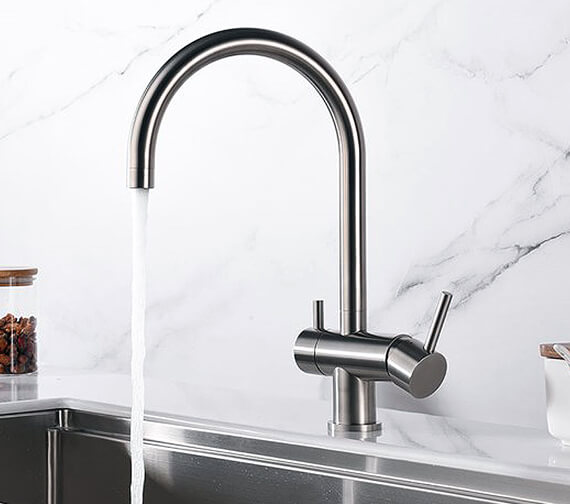 Clearwater Aquarius C Twin lever Kitchen Sink Mixer Tap