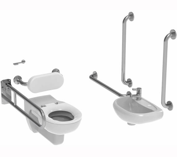 Saneux Care Wall Hung Doc M Pack With Concealed Fixings
