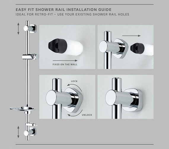 Additional image of Methven Airstream 3 Mode Easy Fit Shower Kit