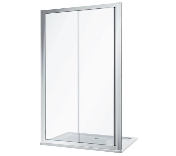 Twyford Geo Sliding Shower Door With 6mm Glass