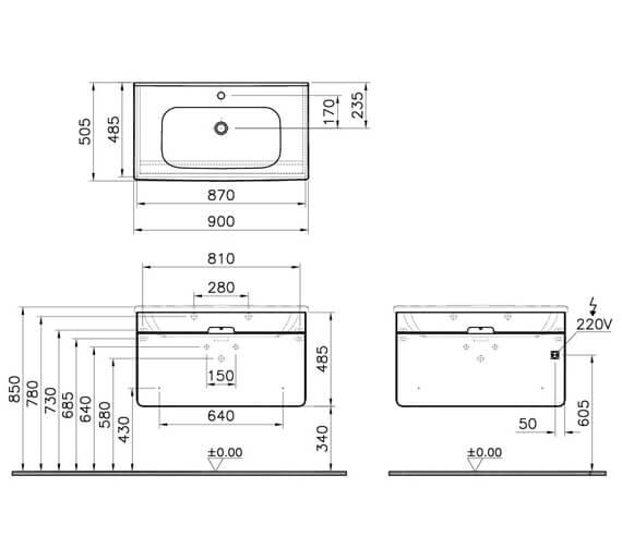 Technical drawing QS-V87188 / 58131