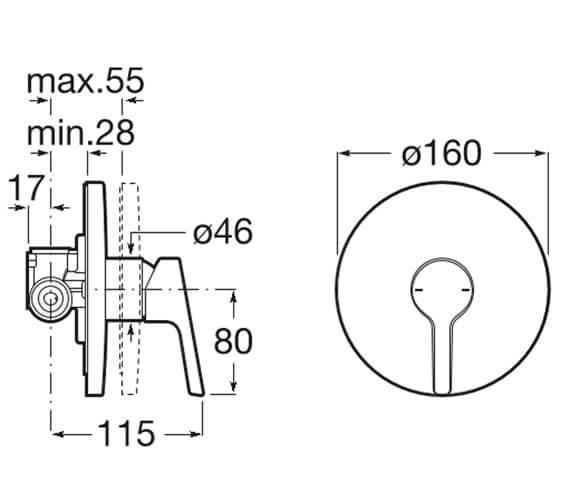 Technical drawing QS-V99831 / 5A223BC00